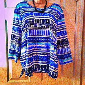 💙 Alfred dunner LG 3/4 sleeves top💙
